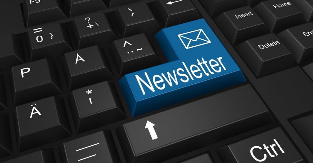 Newsletter versenden Tastatur Unternehmen mehr Erfolg